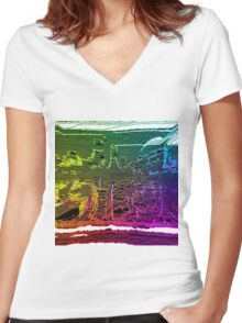 Trippy #Drunk  Women's Fitted V-Neck T-Shirt