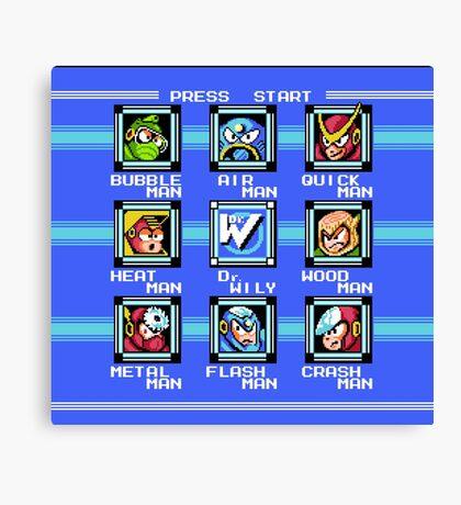 Mega Man 2 - Stage Select Canvas Print