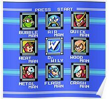Mega Man 2 - Stage Select Poster