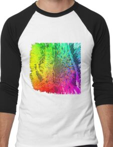 Trippy Grid Men's Baseball ¾ T-Shirt