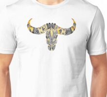 Water Buffalo Skull – Black & Yellow Unisex T-Shirt