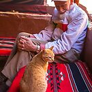 Jordan. Wadi Rum. Bedouin Camp. The Old Man and the Cat. by vadim19