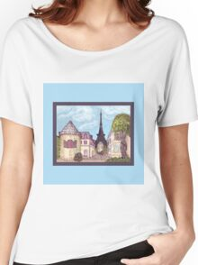 Paris Eiffel Tower inspired impressionist landscape by Kristie Hubler Women's Relaxed Fit T-Shirt