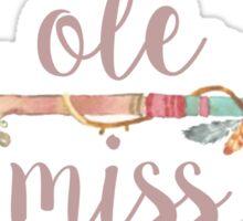 Ole Miss Arrow Sticker
