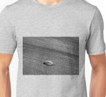 Lonely shell on the beach Unisex T-Shirt