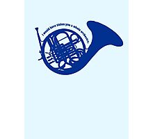 THE BLUE FRENCH HORN Photographic Print