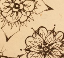 Inky Thought-Flowers Sticker
