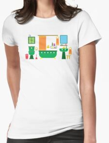 a bathroom Womens Fitted T-Shirt