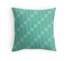 Arrows_Turquoise Throw Pillow