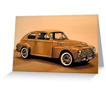 Volvo PV Painting Greeting Card