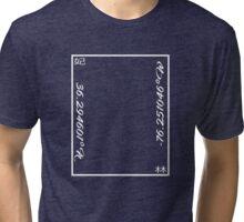 Lat-Long Kanji Tee (White) Tri-blend T-Shirt