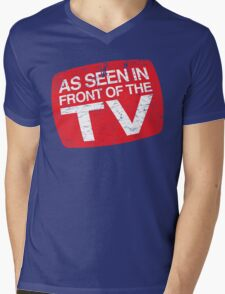 As Seen In Front of the TV Mens V-Neck T-Shirt