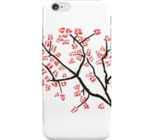 Dark Branches with Red Leaves iPhone Case/Skin