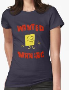 SpongeBob SquarePants Classic - Wanted Maniac Womens Fitted T-Shirt