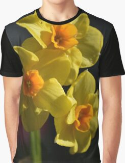 Pretty spring yellow daffodil flowers photo art. Graphic T-Shirt