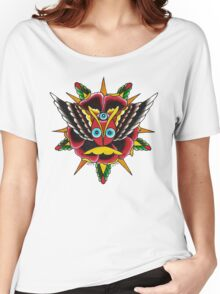 Rose Eyes on White Women's Relaxed Fit T-Shirt
