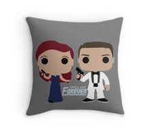 Spies are Forever - Curt & Tatiana Throw Pillow