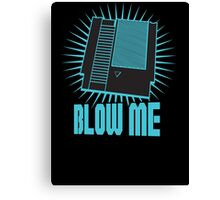 Nintendo Blow Me Cartridge Funny T-Shirt Canvas Print