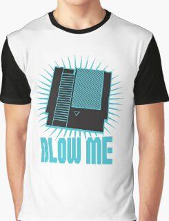 Nintendo Blow Me Cartridge Funny T-Shirt Graphic T-Shirt