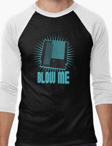 Nintendo Blow Me Cartridge Funny T-Shirt Men's Baseball ¾ T-Shirt