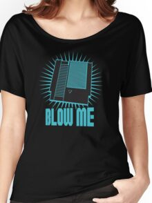 Nintendo Blow Me Cartridge Funny T-Shirt Women's Relaxed Fit T-Shirt