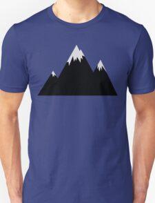 Simple Mountain Range (Bl+Gr) T-Shirt