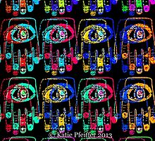 Color Pop Art Hamsa Hands by Kater