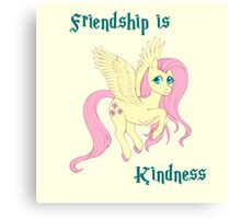 Friendship is Kindness Canvas Print