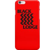 Twin Peaks Black Lodge Black Flag Parody iPhone Case/Skin