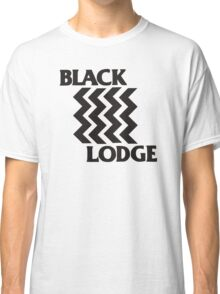 Twin Peaks Black Lodge Black Flag Parody Classic T-Shirt