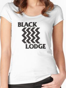 Twin Peaks Black Lodge Black Flag Parody Women's Fitted Scoop T-Shirt