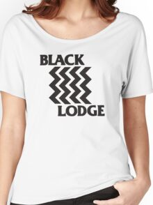 Twin Peaks Black Lodge Black Flag Parody Women's Relaxed Fit T-Shirt