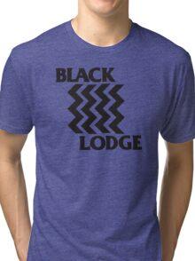 Twin Peaks Black Lodge Black Flag Parody Tri-blend T-Shirt