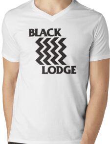 Twin Peaks Black Lodge Black Flag Parody Mens V-Neck T-Shirt