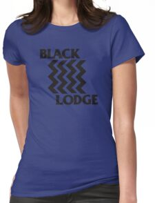 Twin Peaks Black Lodge Black Flag Parody Womens Fitted T-Shirt