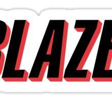Portland Trail Blazers Retro Long Sticker