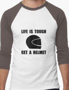 Life Tough Get Helmet Men's Baseball ¾ T-Shirt