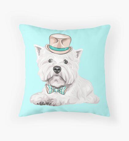 dog West Highland White Terrier Throw Pillow