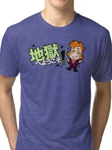 地獄へようこそ!- Chibi meph Tri-blend T-Shirt