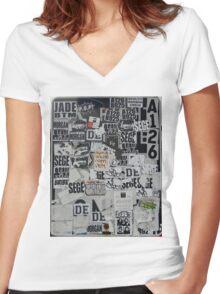 Sticky Women's Fitted V-Neck T-Shirt