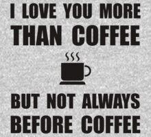 Not Before Coffee Kids Tee