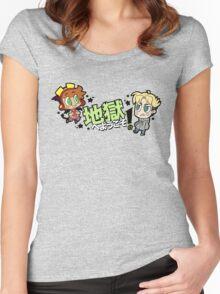 地獄へようこそ!- Chibi Sock & Jonathan Women's Fitted Scoop T-Shirt