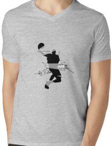 Abstract Basketball Design Mens V-Neck T-Shirt