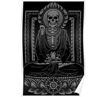 Buddha and Mucalinda - Charcoal Poster
