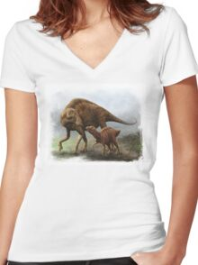 Maiasaura Women's Fitted V-Neck T-Shirt