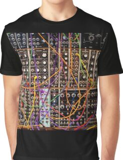 Moog Modular Synthesizer Control Panel Graphic T-Shirt