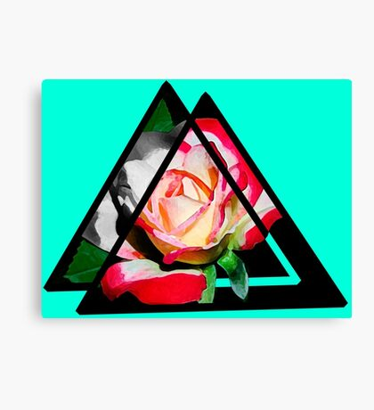 abstract rose digital painting Canvas Print