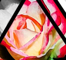 abstract rose digital painting Sticker