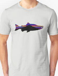 Patagonia Type Salmon Fish T-Shirt