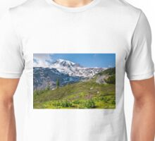 Moss and Shooting Star on the Nisqually Moraine Unisex T-Shirt
